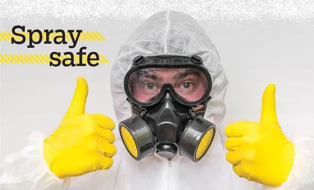Spray safe - Proper PPE keeps workers safe during SPF roofing projects