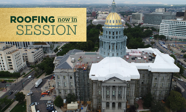 Roofing now in session - Douglass Colony Group helps renovate the Colorado State Capitol