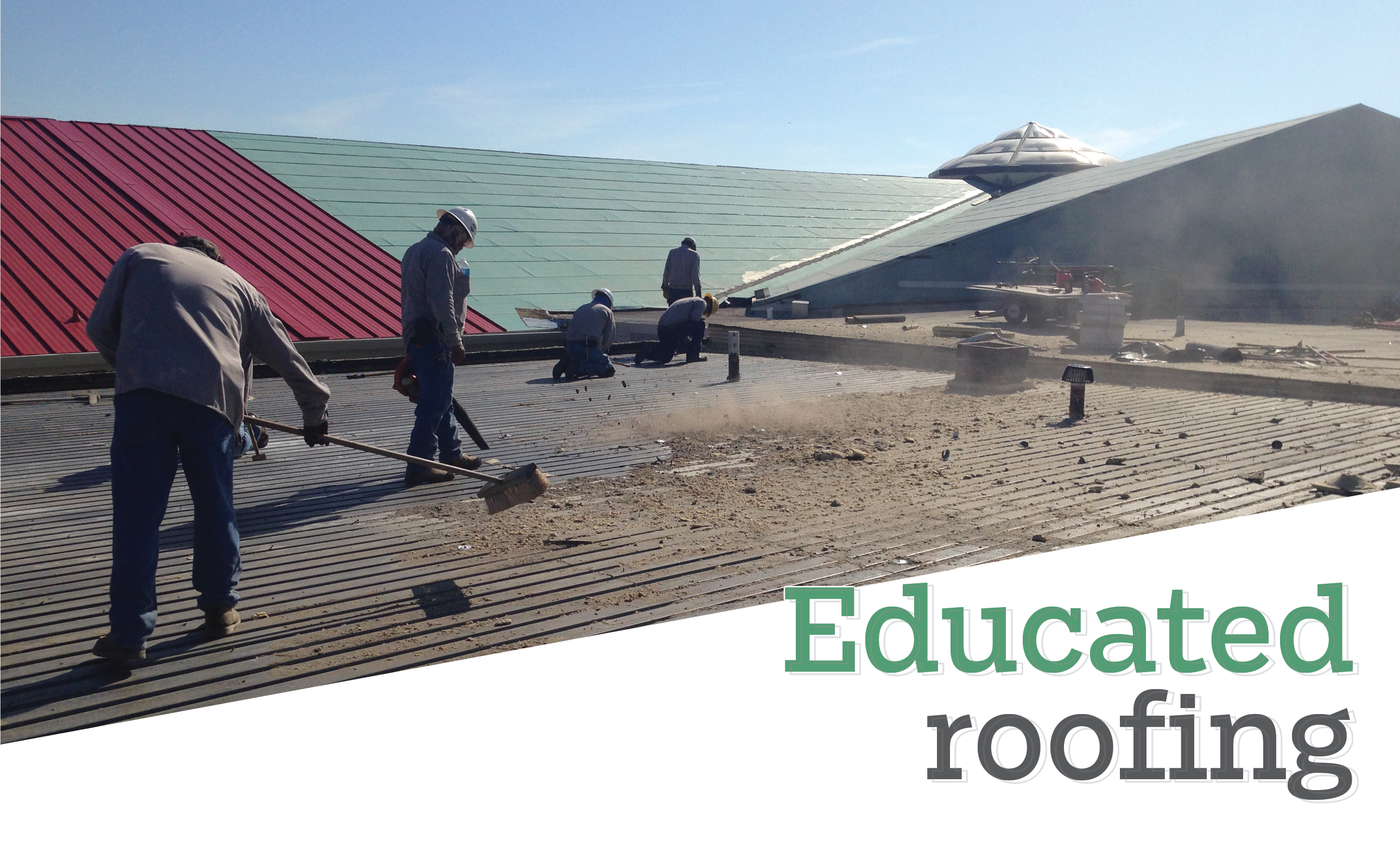Educated roofing - Rio Roofing corrects leak issues on Roma High School in Texas
