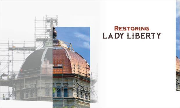 Restoring Lady Liberty - Charles F. Evans helps renovate Bradford County Courthouse