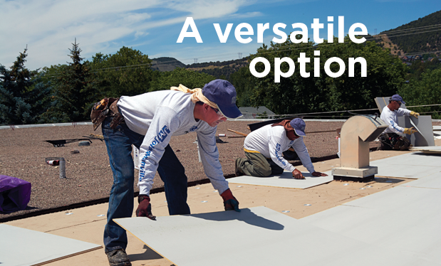 A versatile option - High-density polyisocyanurate cover boards can be used in a variety of roofing situations