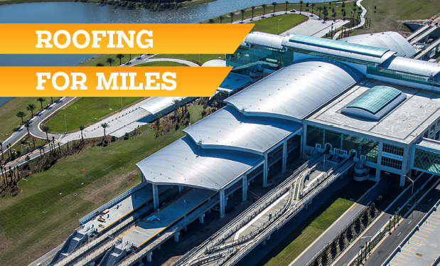 Roofing for miles - Architectural Sheet Metal Inc. helps build a new automated people mover complex at Orlando International Airport