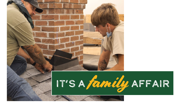 It's a family affair - For many fathers and sons, Deer Park Roofing provides a welcoming environment for working together
