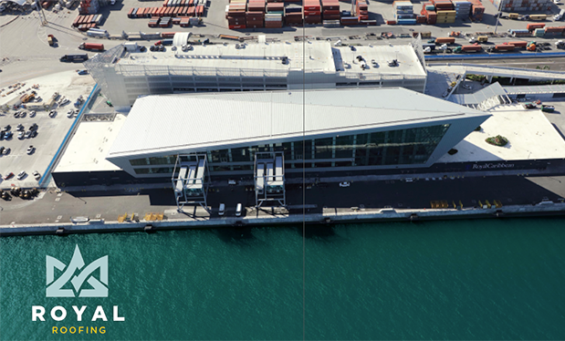 Royal roofing - Advanced Roofing helps build the Royal Caribbean terminal at the Port of Miami