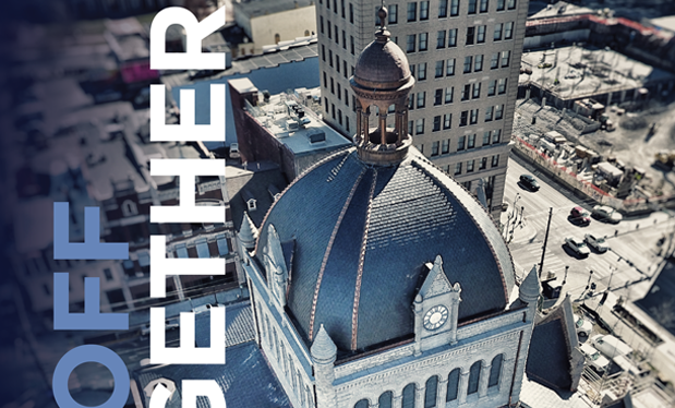 Tied-off together - American Roofing and Metal partners with Steinrock Roofing and Sheet Metal to renovate historical Fayette County Courthouse