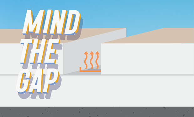 Mind the gap - Thermal bypass occurs through gaps between insulation boards in low-slope roof assemblies