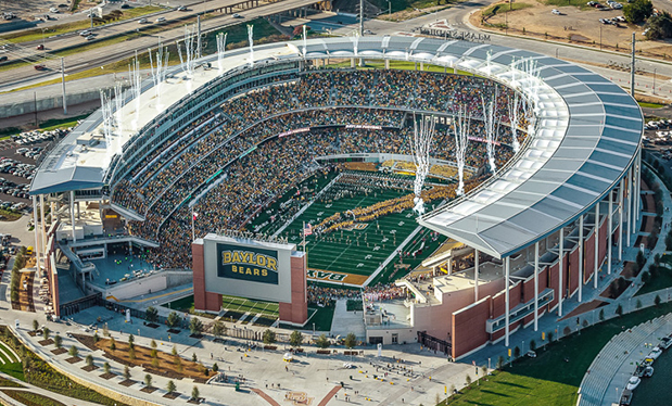 A diamond on the Brazos River - Johnson Roofing helps build McLane Stadium at Baylor<sup>®</sup> University