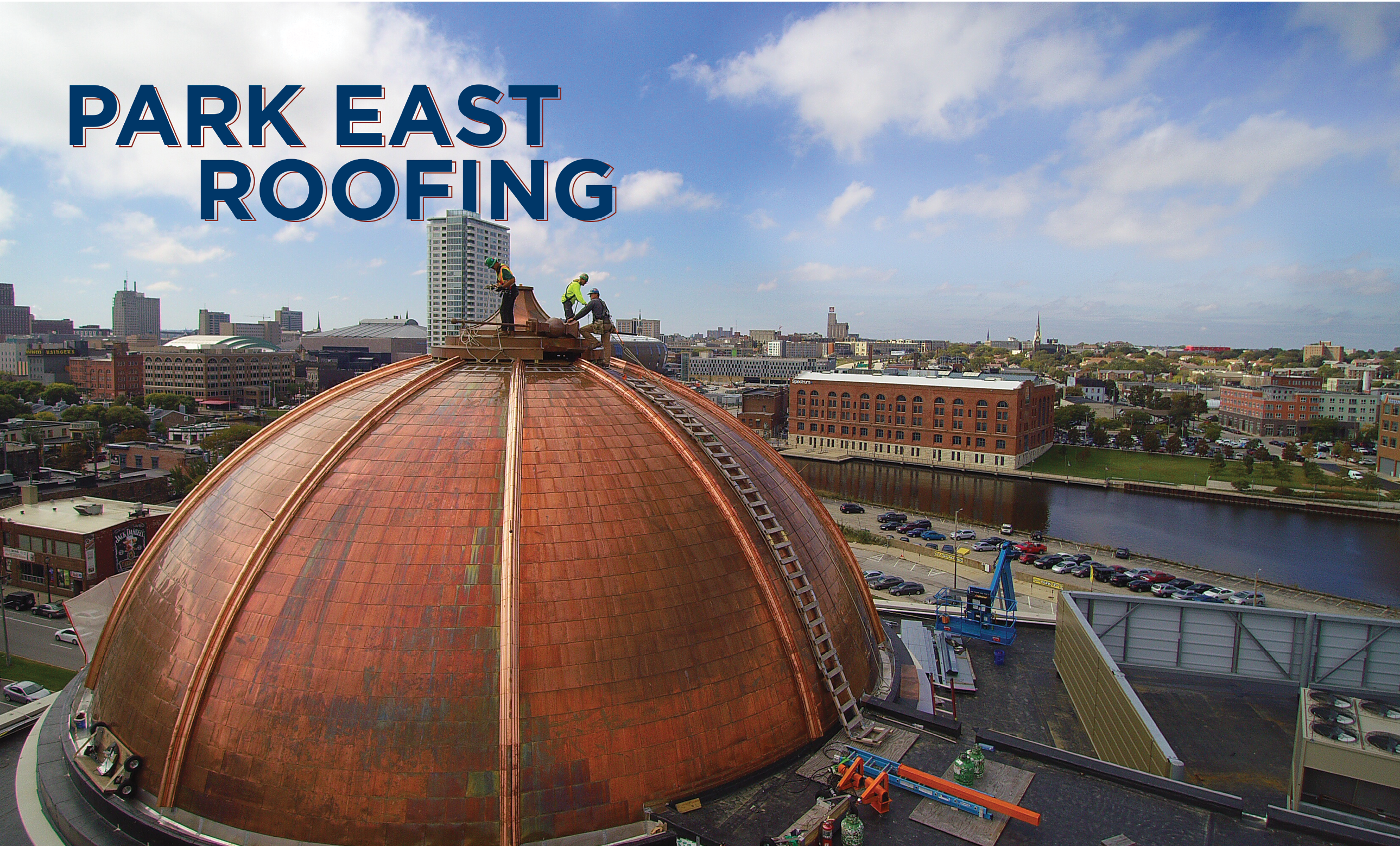 Park East roofing - F.J.A. Christiansen Roofing helps build a new landmark in Milwaukee