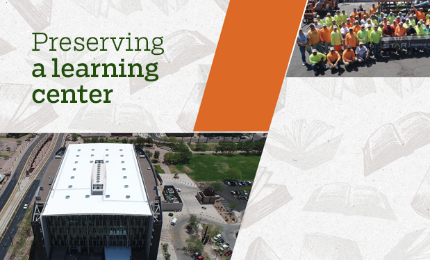 Preserving a learning center - Star Roofing recycles 250 tons of materials while restoring Burton Barr Central Library in Phoenix