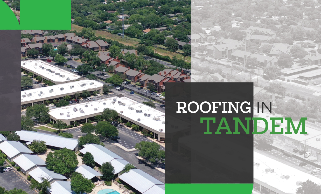 Roofing in tandem - Absolute Roofing and Waterproofing helps a trade partner find the right solution for a customer