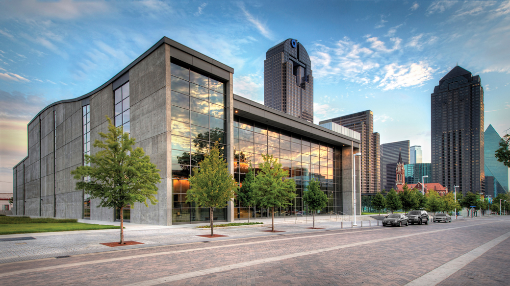 A grand entrance in Dallas - Castro Roofing installs an acoustical roof system on the Dallas City Performance Hall