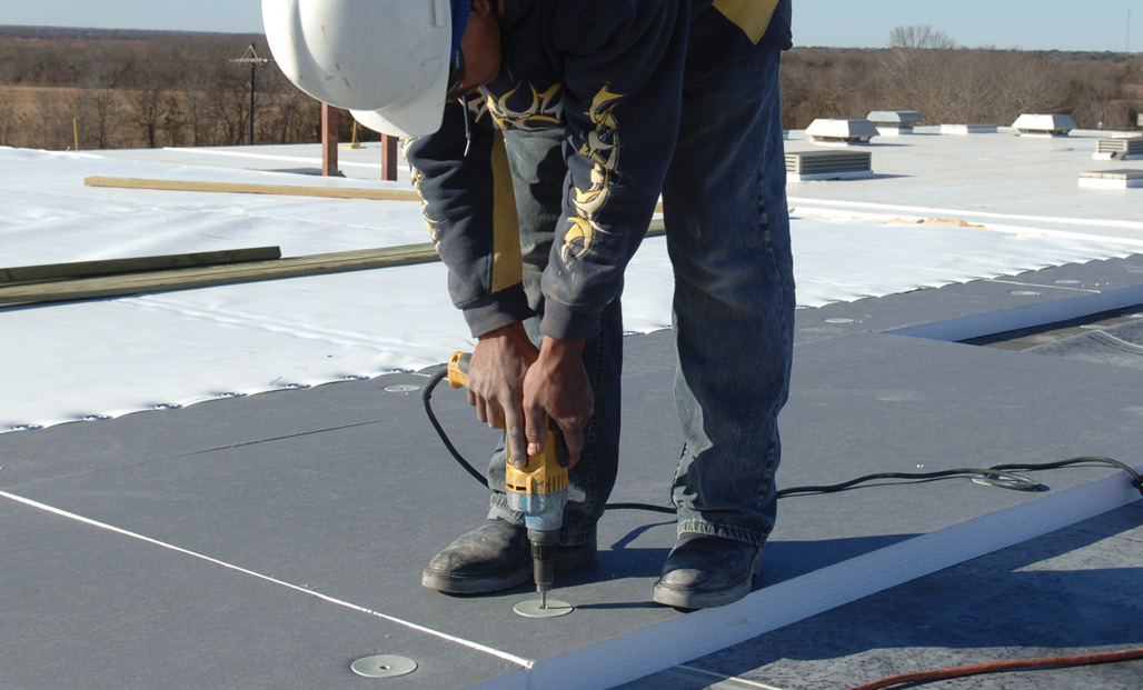 An insulation option - Choosing the right insulation can significantly alter a roof system's cost and performance