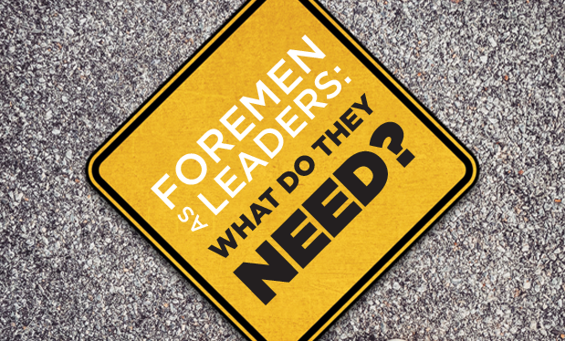 Foremen as leaders: What do they need? - To be effective leaders, foremen should receive specialized training