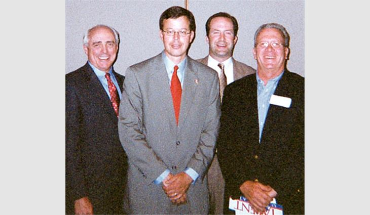 Delightful From Left To Right: Greg Perkins, President Of Performance Roof Systems  Inc.,