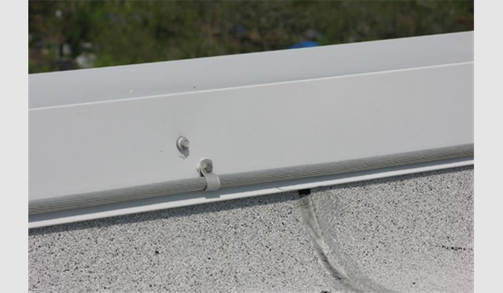 ... This Conductor Was Attached To The Coping With A Looped Connector. When  Sufficiently Long Screws