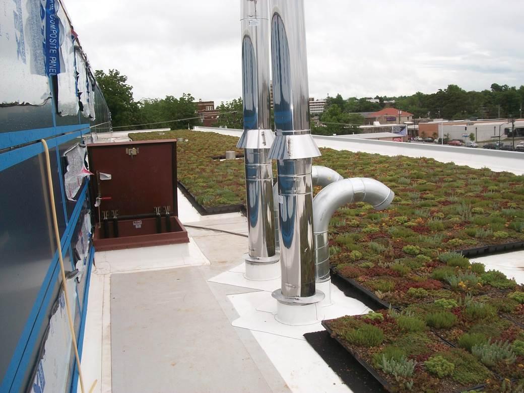 ... The Greene County Public Safety Centeru0027s Vegetative Roof System.