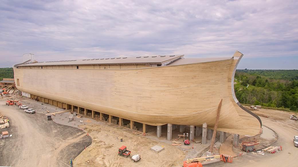 The Ark Is Built On 102 Piers, Each 15 Feet High ...