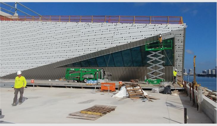 Advanced Roofing received a one-time Notice of Acceptance to install metal panels as wall cladding