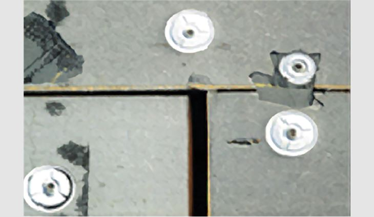 Figure 2: Typical examples of gap formations in low-slope roof assemblies. Courtesy of 2001 Company, Waterbury, Conn., and Canadian Roofing Contractors Association.