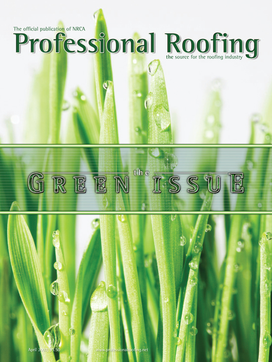 Professional Roofing Magazine 4/1/2007