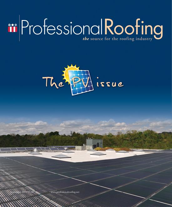 Professional Roofing Magazine 9/1/2011