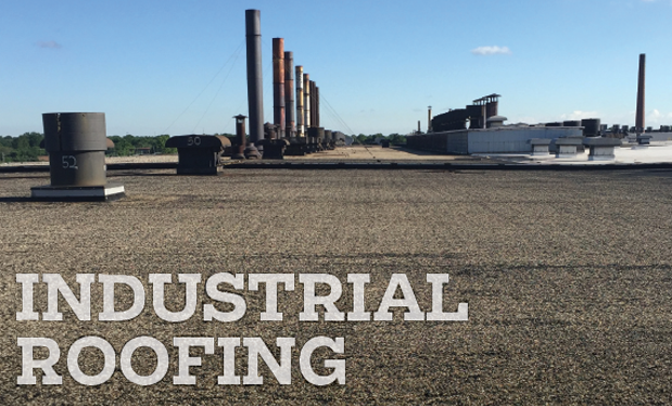 Industrial roofing - Nations Roof of Ohio demonstrates safety skills on Alcoa