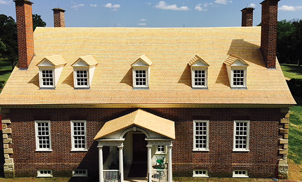 A declaration of roofing - Ruff Roofers restores Gunston Hall's roof to 1755 specifications