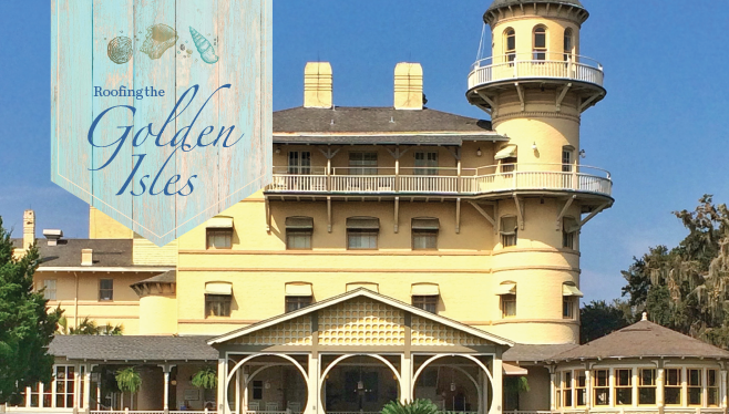 Roofing the Golden Isles - Bone Dry Roofing helps restore Georgia's Jekyll Island Club Resort