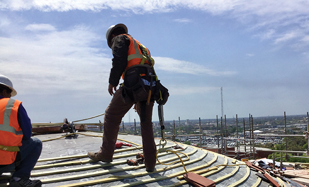 Higher roofing - Beldon Roofing restores the iconic dome on San Antonio's Temple Beth-El