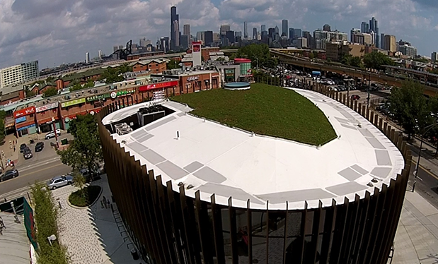 Feng shui roofing - Korellis Roofing helps build Chicago's Chinatown public library
