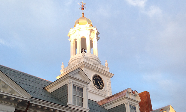 The sound of roofing - Mahan Slate Roofing restores Groton School's bell tower