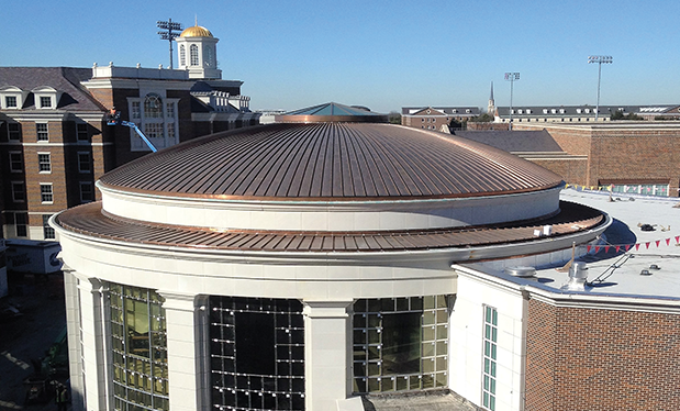 A dome to the sky - Supreme Roofing installs multiple roof systems for  Southern Methodist University