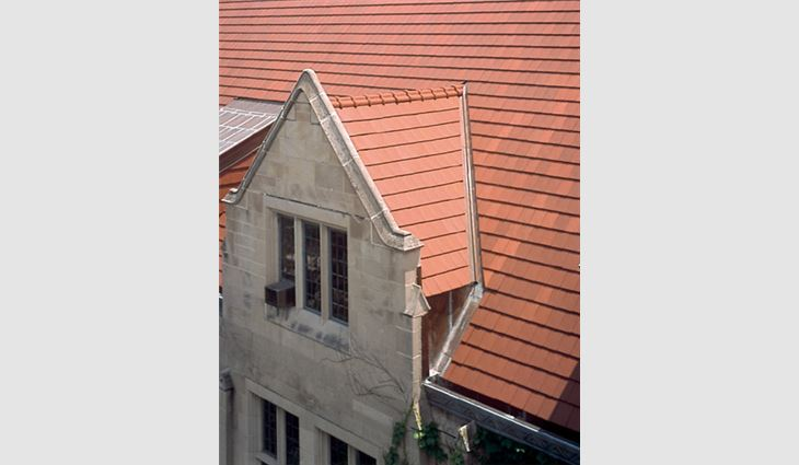 The Oriental Institute, Chicago, features a new Ludowici Classic ™ Tile roof system.