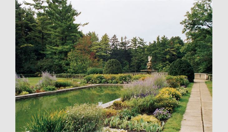 Forty acres (16 hectares) of gardens surround the Cranbrook House.