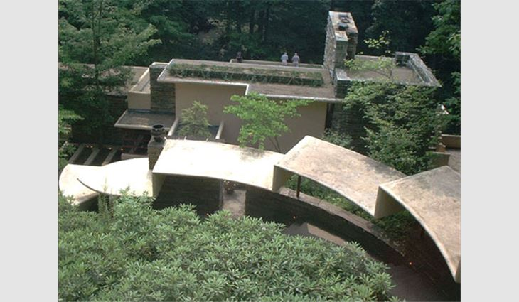 Frank Lloyd Wright designed Fallingwater as a series of cantilevers, or supporting shelves.