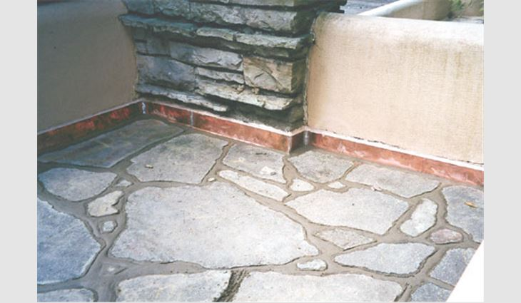 Flagstone pieces were photographed, mapped and numbered before they were removed for terrace restoration work. This ensured all flagstone pieces were returned to their original positions.