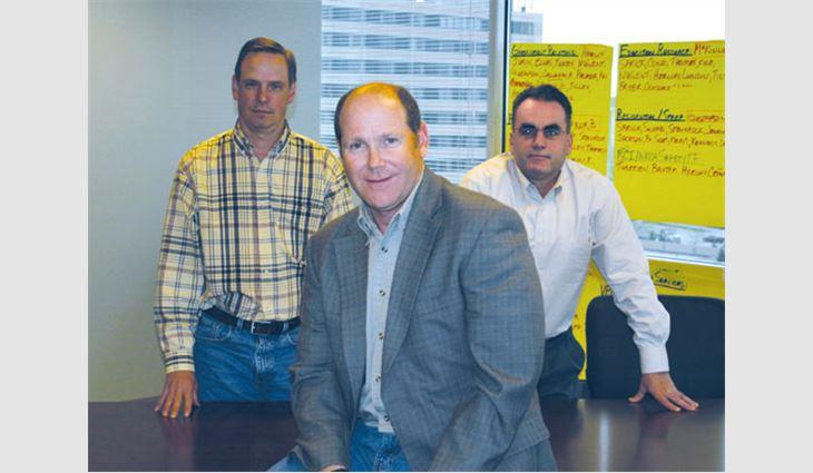 From left to right: Immediate former President Dane Bradford, President Reid Ribble and Senior Vice President Mark Gaulin at an NRCA planning meeting.
