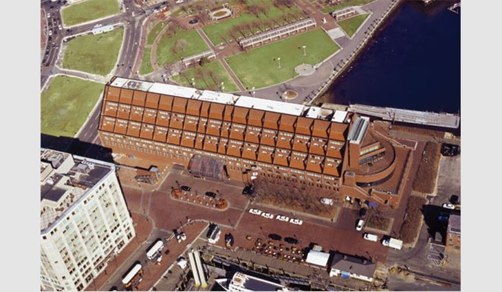The roof system of the Boston Marriott® Long Wharf hotel was recycled.