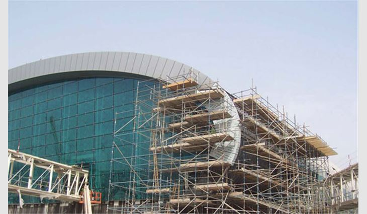 End fascia during construction
