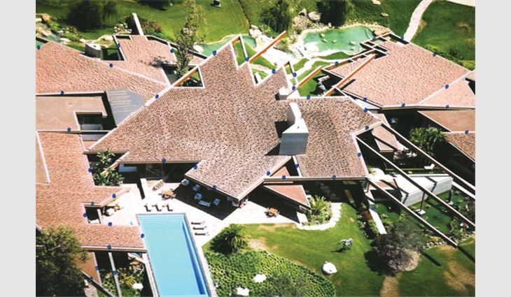 Keystone Roofing installed a clay tile roof system on this private estate in California.