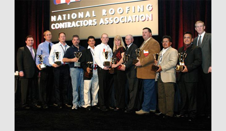 The Roofing Industry Alliance for Progress presented its MVP Awards to 10 outstanding roofing workers.