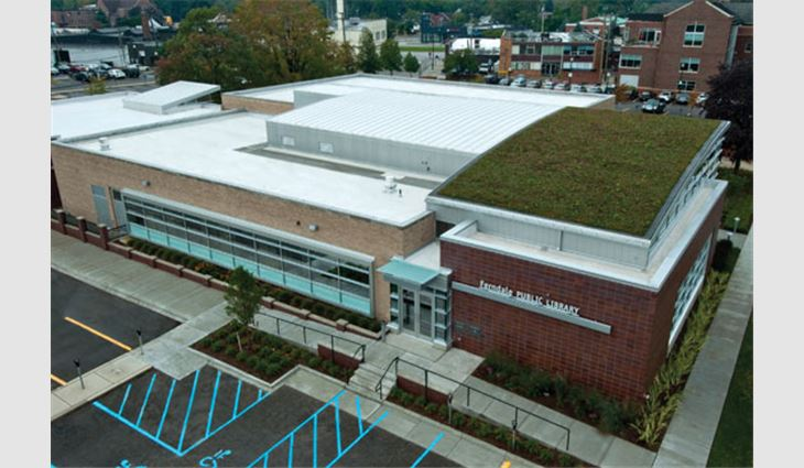 Ferndale Public Library's new roof systems