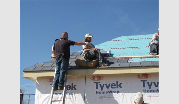 DaVinci Roofscapes donated its Bellaforté Villa roof tiles to be installed on this home constructed for wounded veterans returning from Iraq.