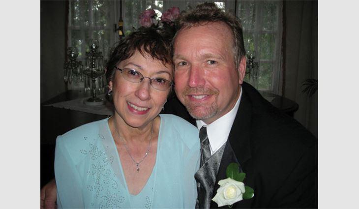 Denton with his wife, Liz