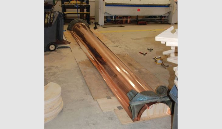 Fabrication of a column