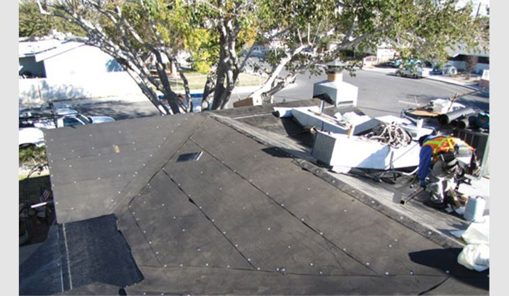 Commercial Roofers reroofs the home of disabled veteran Jack Brown in Las Vegas.