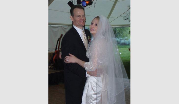 Van Winkle with her husband, Lance