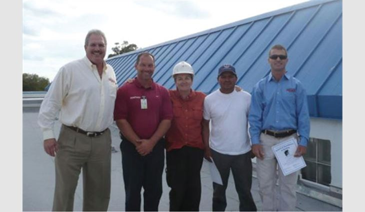 Baytosh was project supervisor for an award-winning Broward County elementary school project.