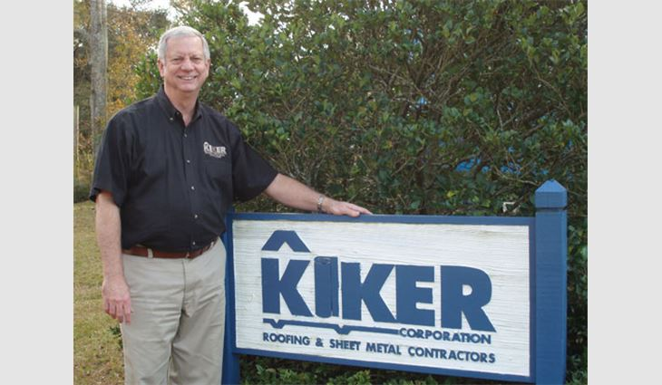 McCrory in front of his company, Kiker Corp., Mobile, Ala.