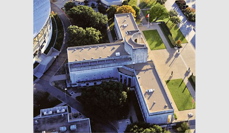 Aerial view of Hall of State